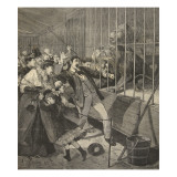 Visitor Attacked by a Lion in a Menagerie, from 'Le Petit Parisien', 12th April 1891 Giclee Print by Beltrand and Clair-Guyot, E. Dete