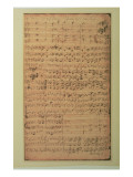 Autograph Manuscript, Cantata Bwv 180 'schmucke Dich O Liebe Seele' by J.S. Bach - Giclee Baskı