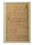 Autograph Manuscript, Cantata Bwv 180 'schmucke Dich O Liebe Seele' by J.S. Bach Giclee Print