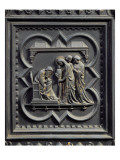 Zechariah Writes the Boy&#39;s Name, Fifth Panel of the South Doors of the Baptistery of San Giovanni Giclee Print by Andrea Pisano