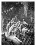 The Albatross Being Fed by the Sailors on the The Ship Marooned in the Frozen Seas of Antartica Giclee Print by Gustave Doré