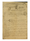 Instructions to Soldiers Issued by Napoleon as General of the Italian Army, 20th May 1796 Giclee Print by  French School