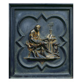 St Luke the Evangelist, Panel C of the North Doors of the Baptistery of San Giovanni, 1403-24 Giclee Print by Lorenzo Ghiberti
