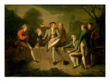 Portrait of Mr. John Corbet, Tollemache, Earl Talbot, James Byres, Sir John Rous, John Staples Reproduction procédé giclée par Philip Wickstead