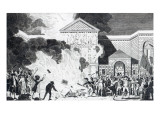 The Devastations Occasioned by the Rioters of London Firing the New Gaol of Newgate Giclee Print by William Hamilton