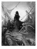 The 'Night-Mare Life-In-Death' Plays Dice with Death for the Souls of the Crew Reproduction giclée Premium par Gustave Doré