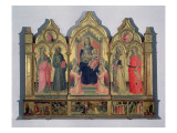 Madonna and Child Enthroned with St. Catherine, St. Drancis, St. Zenobius and St. Mary Magdalene Reproduction procédé giclée par Pseudo Ambrogio di Baldese