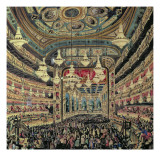 Interior View of the 'Great Lyceum' During a Carnival before the Fire Which Destroyed the Theatre Giclee Print by  Spanish School