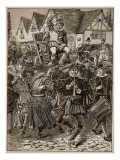 The Frolic of My Lord of Misrule, Illustration from 'Cassell's Illustrated History of England' Giclee Print by  English School