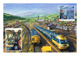 The Diesel-Powered 'Inter-City 125' Alongside a Train of Special Malt Containers Hauled Giclee Print by  Green