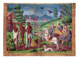 The Legend of the Three Living Men and the Three Dead Men, from the Book of Hours of Charles V Giclee Print by  German School