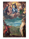 Christ Arresting the Plague with the Prayers of the Virgin, St. Rocco and St. Sebastian Giclee Print by Paolo Veronese