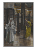 The Pharisee and the Publican, Illustration from &#39;The Life of Our Lord Jesus Christ&#39;, 1886-94 Giclee Print by James Jacques Joseph Tissot