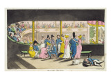 Plymouth Playhouse, Plate from 'The Adventures of Johnny Newcome in the Navy' by John Mitford Giclee Print by  Rowlandson