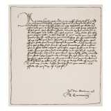 Letter from Cranmer to Cromwell Thanking Him for Obtaining the King's Authority Giclée-tryk af English School
