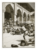 Arrest of the Rajah of Benares, Illustration from 'Cassell's Illustrated History of England' Giclee Print by  English School
