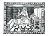 Money Changer, Illustration from 'Libro Di Givocho Di Scacchi' by Jacobus De Cessolis, 1493 Giclée-tryk af  Italian School