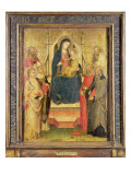 Madonna and Child Enthroned with St. Apollonia, St. Mark, a Bishop Saint, St. Jerome, St. Benedict Giclee Print by Mariotto Di Nardo
