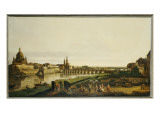 A View of Dresden from the Right Bank of the River Elbe Above the Augustusbrucke Giclee Print by Bernardo Bellotto