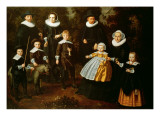 Group Portrait of Three Generations of a Family in the Grounds of a Country House Reproduction procédé giclée par Dirck Santvoort