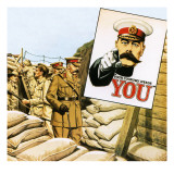 Lord Kitchener Inspecting Australian Positions During the Gallipoli Campaign Giclee Print by John Keay