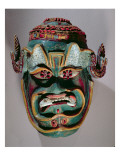 Ritual Mask of Santiago Used in the Mexican Dance of the Moors and the Christians Giclee Print by  Mexican School