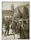 Muster of the Irish at Mullinahone, Illustration from &#39;Cassell&#39;s Illustrated History of England&#39; Giclee Print by William Barnes Wollen