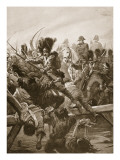 When the Remnant of the Guard Was Seen Clearing a Way for the Emperor, There Was a Rush Giclee Print by Paul Hardy