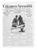 Ramsay Macdonald, the First Man to Fly as Prime Minister, Front Page of 'The Children's Newspaper' Giclee Print by English School