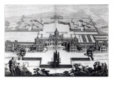 Castle Howard, from 'Vitruvius Britannicus' by Colen Campbell, Engraved by Hendrik Hulsbergh Giclee Print by Colen Campbell