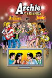 Archie Comics Cover: Archie & Friends No.130 The Archies vs Josie And The Pussycats Poster by Bill Galvan