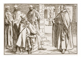 Bishop Dagan Discussed with Laurence the Points of Difference Between Roman and Celtic Communions Giclee Print by Frederick Pegram