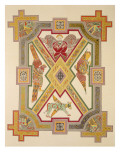 The Four Evangelists, from a Facsimile Copy of the Book of Kells, Pub. by Day and Son Premium Giclee Print by  Irish School