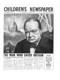 Winston Churchill: the Man Who Saved Britain, Front Page of 'The Children's Newspaper' Giclee Print by English School