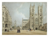 Westminster Abbey and Hospital, from 'London as it Is', Engraved and Published by the Artist, 1842 Giclee Print by Thomas Shotter Boys