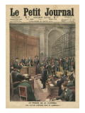 Trial of the Camorra, Illustration from &#39;Le Petit Journal&#39;, Supplement Illustre, 26th March 1911 Giclee Print by French School 