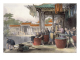 Dyeing and Winding Silk, from 'China in a Series of Views' by George Newenham Wright Giclee Print by Thomas Allom