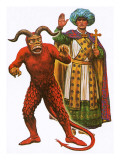 Costumes for the Devil and One of the Three Wise Men Used in a Medieval Mystery Play Giclee Print by Ken Petts