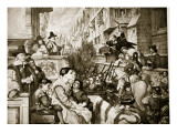 The Train-Bands Leave London, Illustration from 'Hutchinson's Story of the British Nation', C.1923 Giclee Print by Charles West Cope