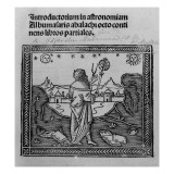 An Astronomer Stargazing, from 'Introductorium in Astronomiam', Published in Venice 1506 Giclée-tryk af Italian School