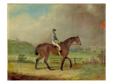 "Mr. Hindley's ""Rosina"" with the Owner Up, on Lincoln Racecourse, with Cathedral Beyond Giclee Print by P. Ewbank"