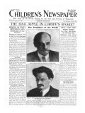 The Bad Apple in Europe's Basket, Front Page of 'The Children's Newspaper', January 1920 Giclee Print by  English School
