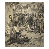 The Execution of a Frenchman in Port-Au-Prince, Haiti, from 'Le Petit Parisien', 21st June 1891 Giclee Print by Beltrand and Clair-Guyot, E. Dete