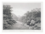 New Holland: View of the Waragamba River in the Blue Mountains, from 'Voyage Autour Du Monde Giclee Print by Pierre Antoine Marchais