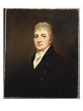 Portrait of Thomas Bissland, Half Length, Wearing a Black Coat and White Stock Giclee Print by Sir Henry Raeburn