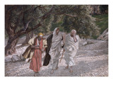 The Disciples on the Road to Emmaus, Illustration for 'The Life of Christ', C.1884-96 Premium Giclee Print by James Tissot