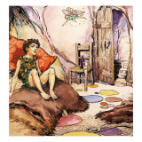 Peter Pan Talking to Tinkerbell, Illustration from 'Peter Pan' by J.M. Barrie Giclee Print by Nadir Quinto