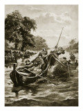 Water-Tilting, Illustration from 'Hutchinson's Story of the British Nation', C.1920 Giclee Print by Henry Payne