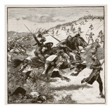 Charge of the Scots at Homildon Hill, Illustration from 'Cassell's Illustrated History of England' Giclee Print by  English School