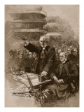 The Archbishop of Canterbury at the Demonstration in the Royal Albert Hall, 1893 Giclee Print by Walter Wilson